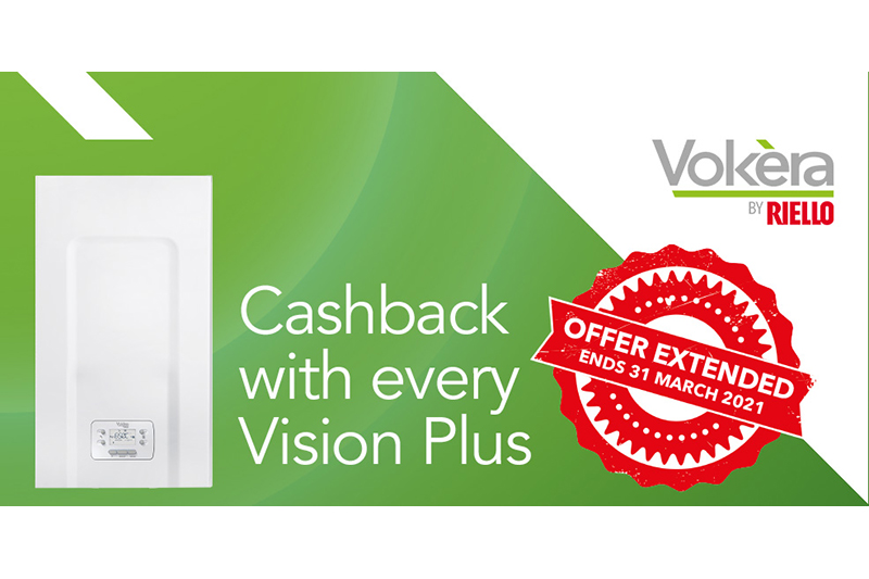 Vokèra extends cashback promo on new Vision Plus boiler