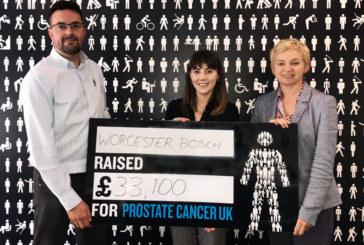 Worcester Bosch raises funds for Prostate Cancer UK