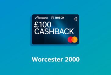 £100 cashback offer launched on Worcester 2000 range
