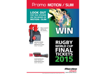 Convert your Macdee Wirquin products into a Rugby World Cup Final Package